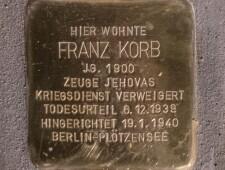 Stolperstein für Franz Korb, ©Alexander Danner