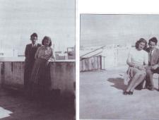 Gerda Eisler geb. Engel und Hans Eisler 1947 in Tel Aviv (Archiv Gerda Eisler, entnommen aus G. Eisler: Alles, woran ich glaube, ist der Zufall. Eine Jugend in Graz und Tel Aviv. Hg. von Inga Fischer. CLIO: Graz 2017.