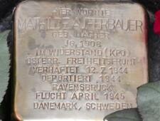 Stolperstein für Mathilde Auferbauer, ©Christian Teichert