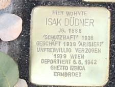 Stolperstein Isak Düdner Foto: J.J. Kucek