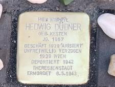 Stolperstein für Hedwig Düdner Verlegung am 16. August 2016 Foto: J.J. Kucek