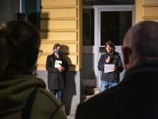 Verlegung des Stolpersteins für Helene Serfecz am 22.10.2020, ©Alexander Danner