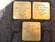 Stolpersteine Simon Salzmann, Elsa Salzmann, Harald Salzmann, Foto JJKucek